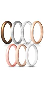 silicone wedding ring for women