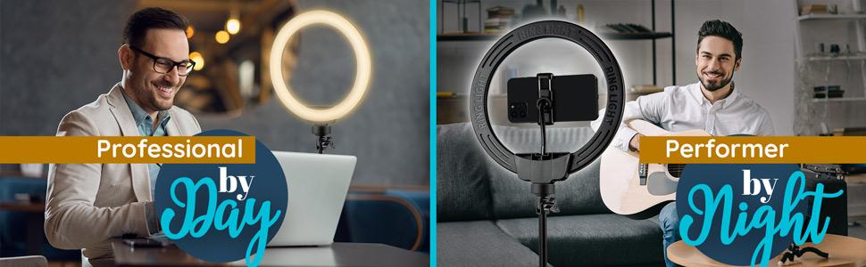 zoom meetings perform youtube tik tok online videos bright light work