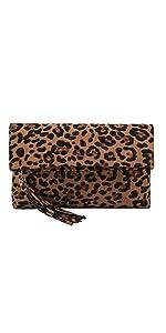 leopard clutch purse