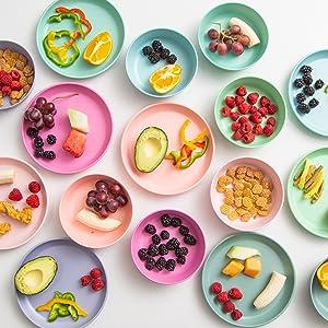 kids plates and bowls set