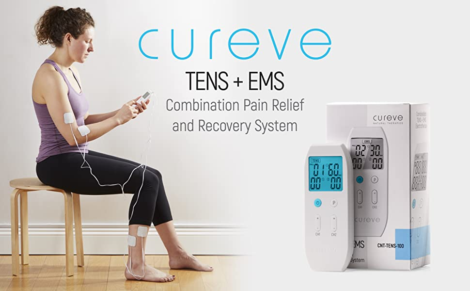 Cureve TENS EMS Four Pads on Back