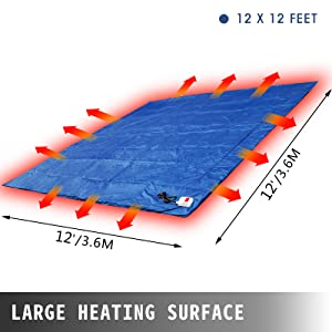 VEVOR Concrete Blanket Electric Concrete Curing Blanket Rapid Thaw Ground Thawing Blanket Power Blanket Density Blanket Insulated Concrete Heater 2 x 2/' Finished Dimensions for Concrete Ground