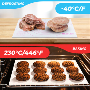 freezing heating baking cold hot defrosting oven sheet liner pastry mat cooking meat desserts dough