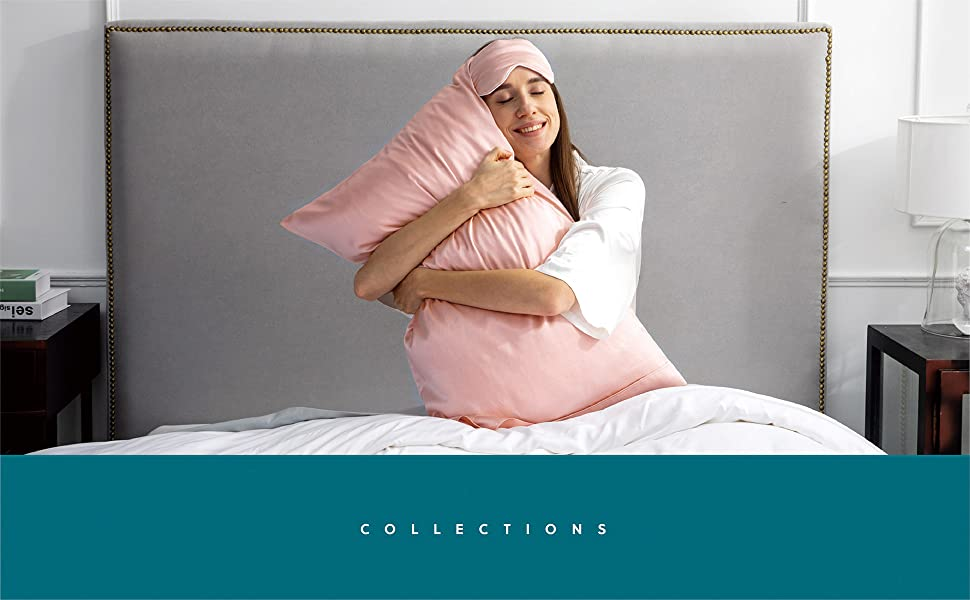 Ultra-soft and easy-to-carry Bedsure silk pillowcase and sleep eye mask