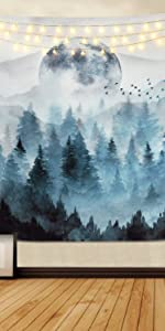 Misty Forest Tapestry