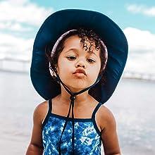 kids girls boys wide brim sun hat swimzip upf 50+ uv sun protection swimwear