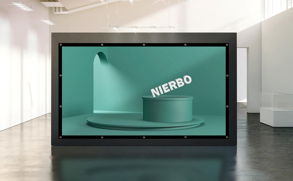 Pantallas Proyector, NIERBO Pantallas de Proyeccion 300 Pantallas para Proyectores Exterior 664x373cm Pantalla para Video Proyector 16 9: Amazon.es: Electrónica