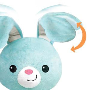 Stuffed Easter Bunny - Interactive BabyBibi Peekaboo Bunny