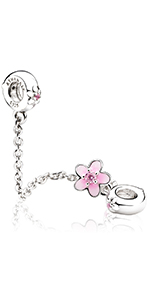 Flower Safety Chain Charms