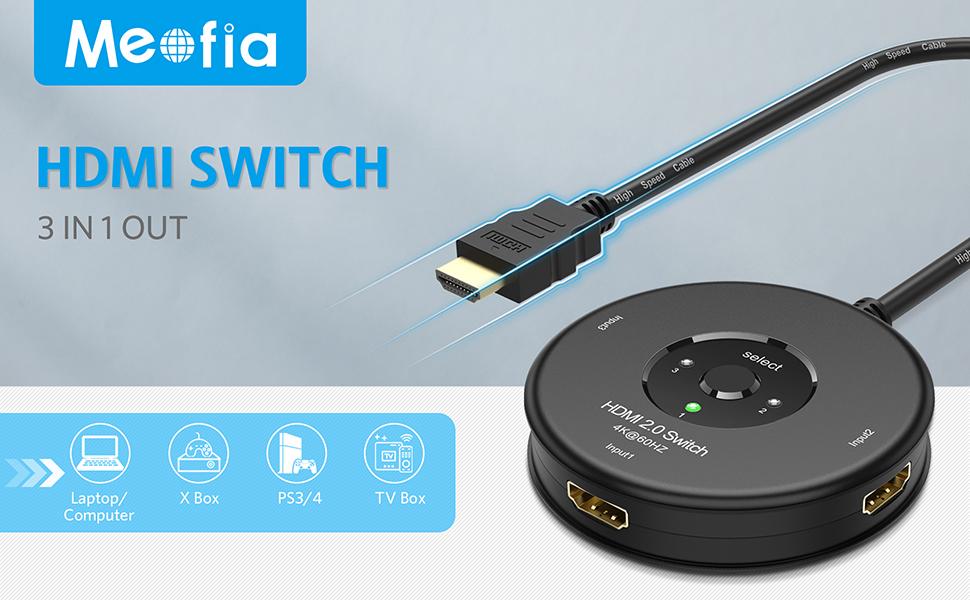 Hdmi Switch 4k Meofia Manuell Hdmi Umschalter 3 In 1 Elektronik
