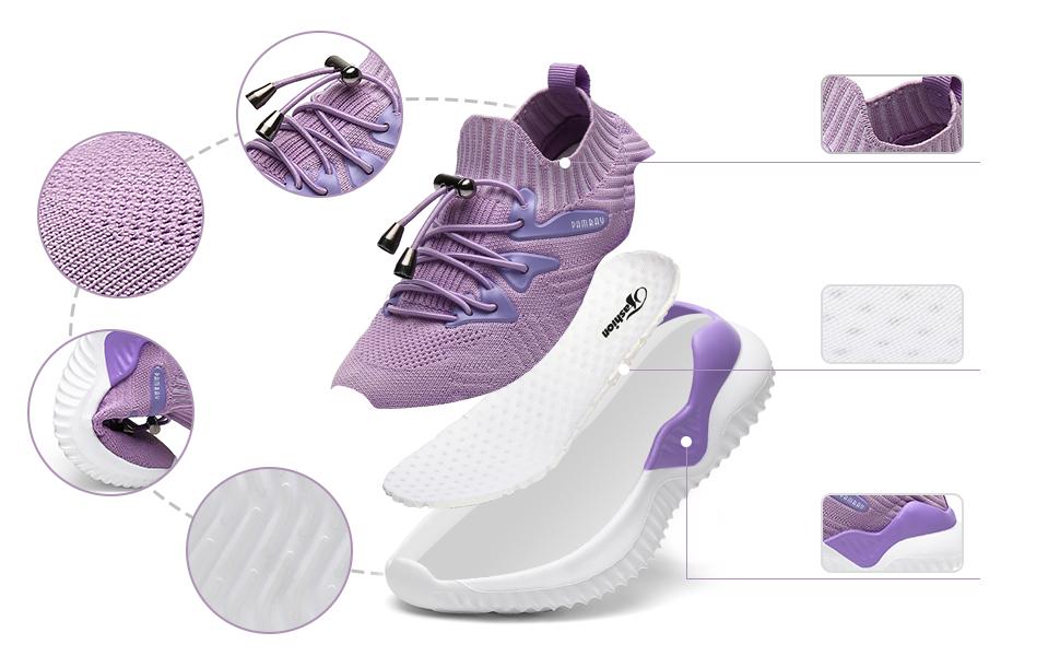 KRONJ Zapatillas Deportivos Ni/ños Ni/ñas Zapatos para Correr Transpirables Antideslizante Talla 27-39