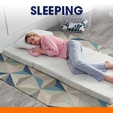 sleeping tri-fold mattress