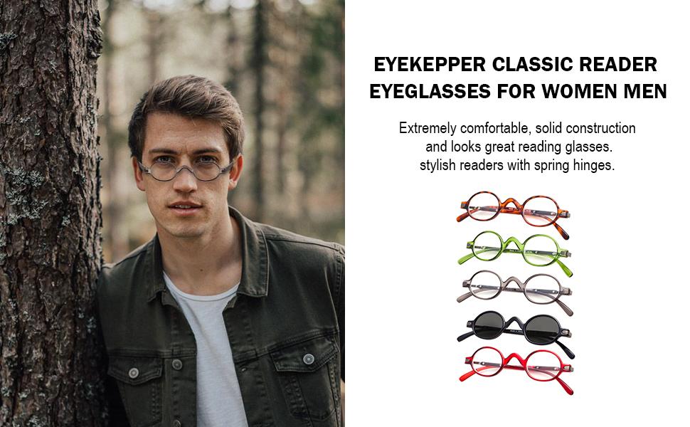 womens mens oval frame readers vintage professor round reading glasses eyeglasses