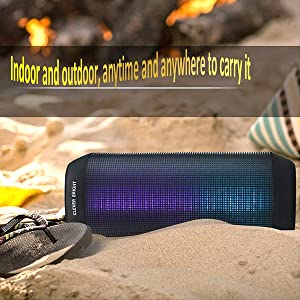 It is very convient to carry CB006 portable wireless Bluetooth Speakers go outdoor.