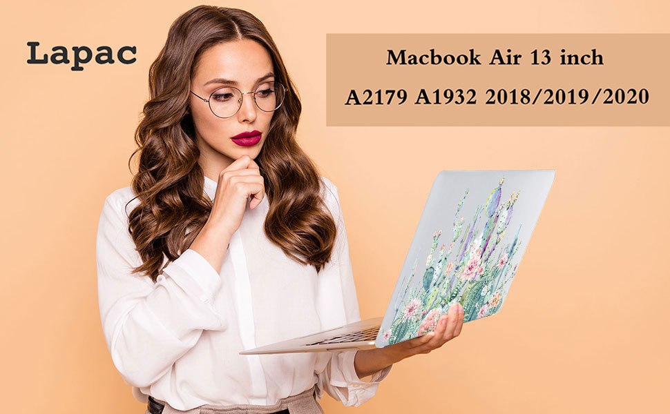 Cute Fox Balloons On White Pattern Plastic Hard Shell Compatible with MacBook Air 13 inch Retina Engree MacBook Air 13 inch Case 2020 2019 2018 Release A2179//A1932