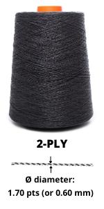 2-ply linen yarn