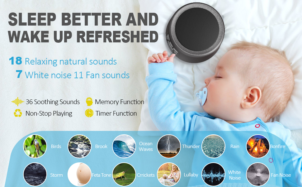 white noise machine 36 soothing sounds