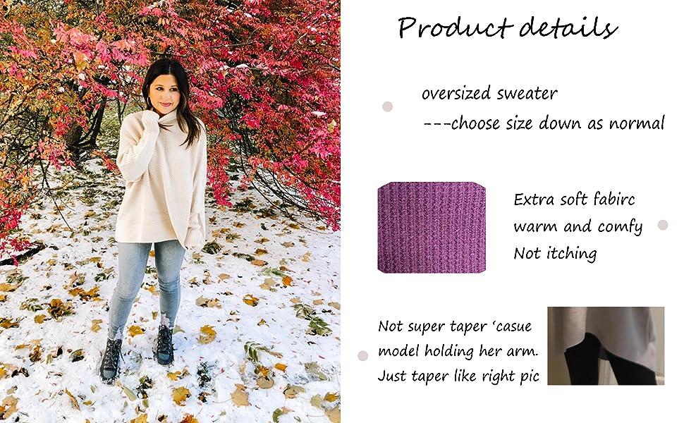 women oversized long tunic sweater high low hem soft fall sweater turtleneck sweaters