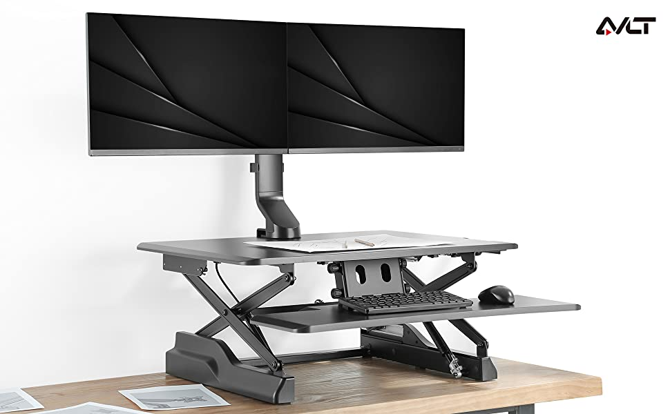 angle. No more bend down your head to watch monitors, release your eye, back, and neck strain.