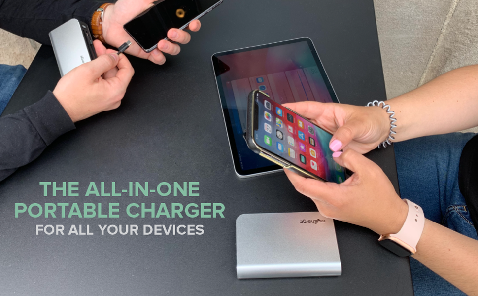 All-In-One Portable Charger Hub, Always Ready