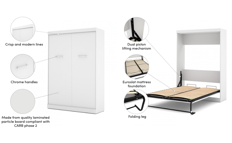 Specifications for the Murphy bed