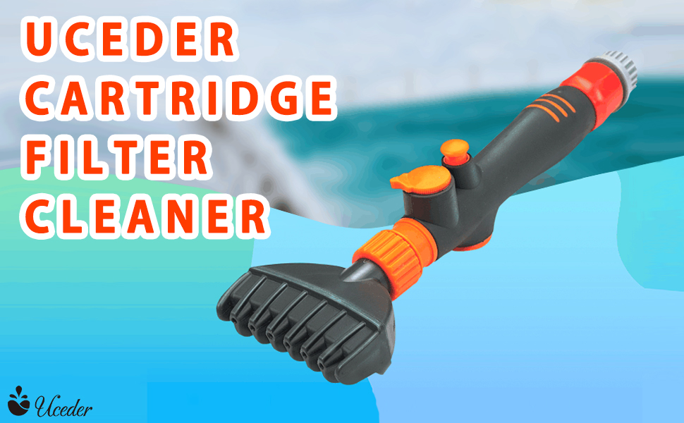 qwe Filter Cartridge Cleaner Mini Handheld Swimming Pool Spa Hot Tub Clean Brush Tool Cleaning Accessories,for Pool Hot Tub Spa Clean The Filter