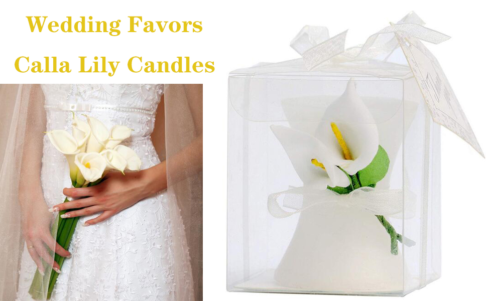 calla lily candle wedding bridal shower favors