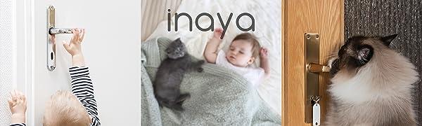 Child Safety Door Lever Locks Handle proof pet proofing cat dog baby toddler knob safe dementia