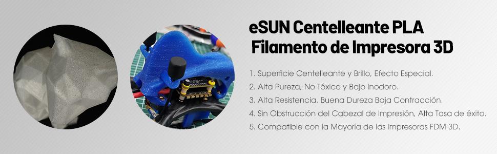 eSUN Centelleante PLA Filamento de Impresora 3D, Filamento PLA ...