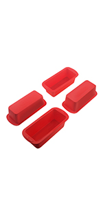 Mini silcione bread loaf pans with non-stick for homemade baking