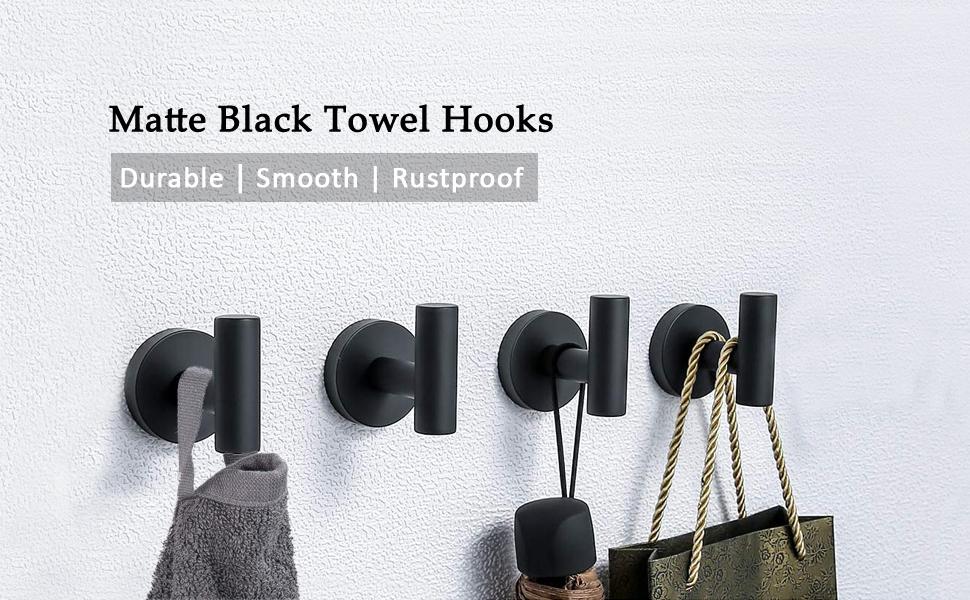 black bathroom hooks