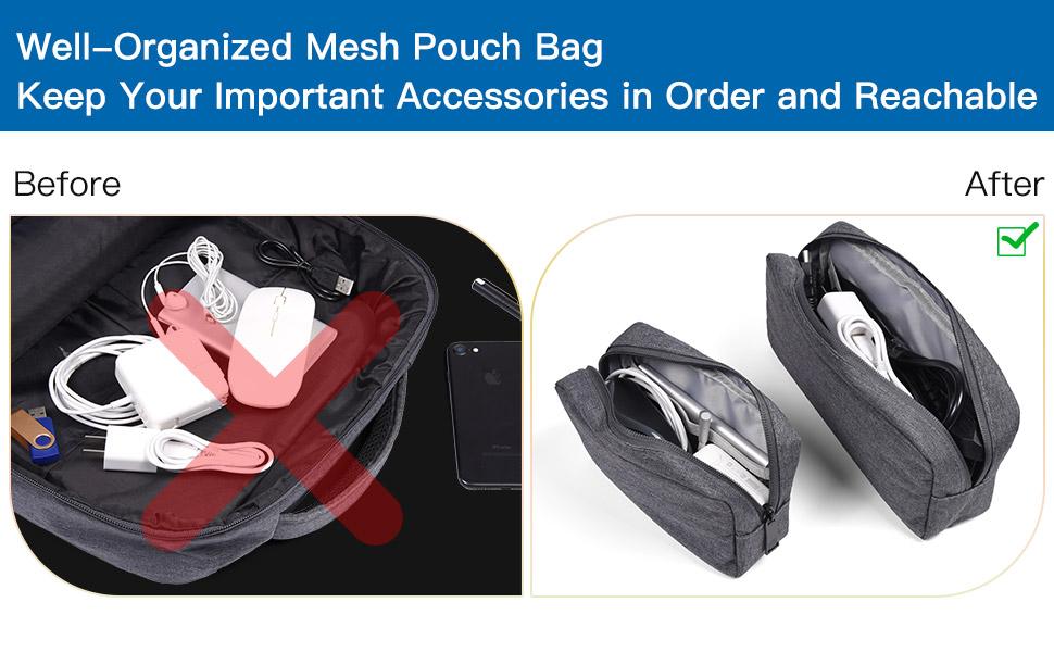 2PCS Electronics Accessories Pouch Bag
