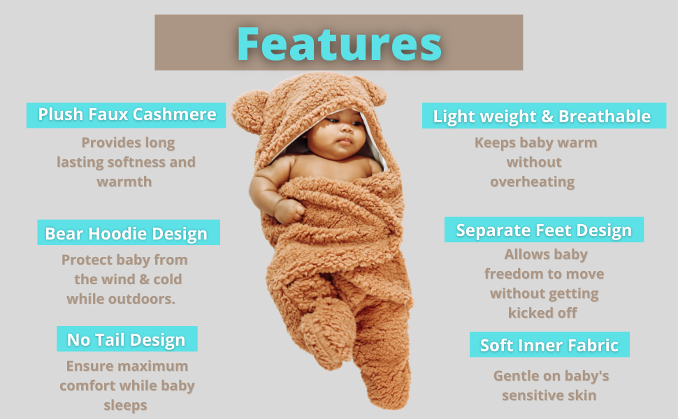necessities new born things outfits girls gray month brown sleepsack essential with bears list