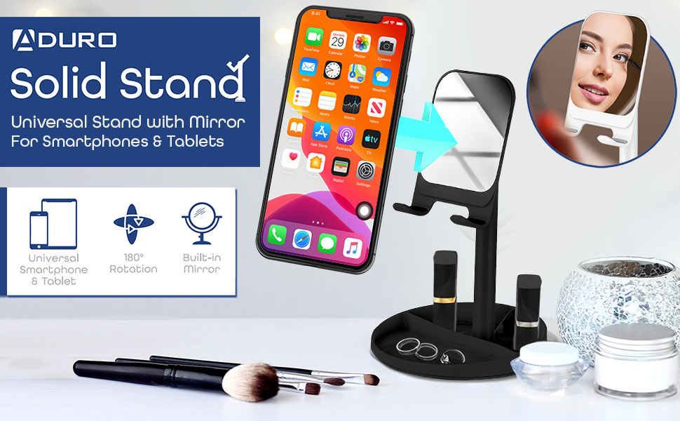Aduro Adjustable Cell Phone Stand for Desk