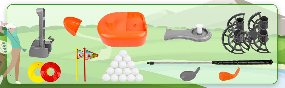 kids play golf clubs