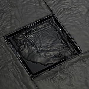 black floor drain