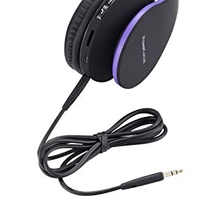 PowerLocus P1 – Auriculares Bluetooth inalambricos de Diadema Cascos Plegables, Casco Bluetooth con Sonido Estéreo con Conexión a Bluetooth Inalámbrico y Audio Cable para Movil, PC, Tablet (Morado): Amazon.es: Electrónica