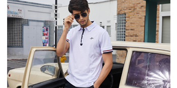 COOFANDY Men's Big and Tall Polo Performance Short Sleeve Solid Tipped Collar Tee