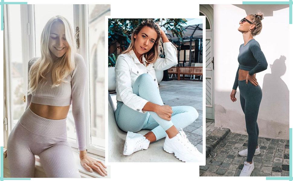 Womens Workout Clothes sets 2 Piece