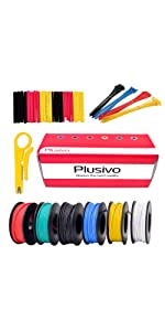 gauge awg 22 hookup silicone wire awg22 stranded soft 22ga 600v flexible wire tie spools insulated