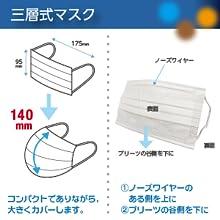 不織布マスク 3層式 使い捨て ウイルス飛沫 花粉 ほこり 10枚入2袋 20枚 レギュラーサイズ サージカル