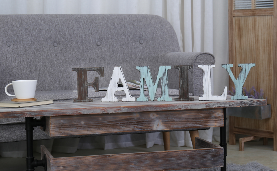 family rustic wooden decorative sign