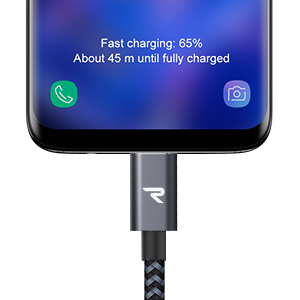 4-Pack LG Xiaomi Sony Xperia XZ Azul Marino Cable USB Tipo C Carga R/ápida Cargador Tipo C Compatible con Samsung Galaxy ChromeBook Pixel y m/ás RAMPOW Cable USB C 0.2M+1M+2M+3M HTC