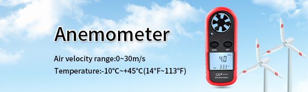 digital anemometer vane anemometer handheld anemometer wind anemometer wind speed gauge