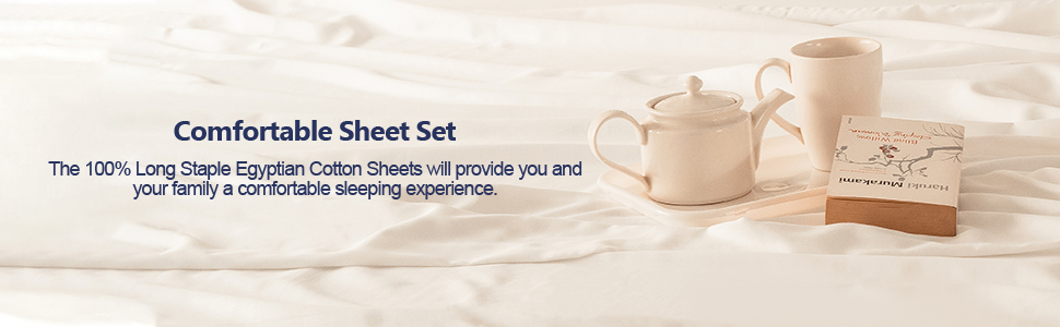 queen king twin full craftsworth organic egyptian cotton sateen set flat fitted 100% bedsheet t300