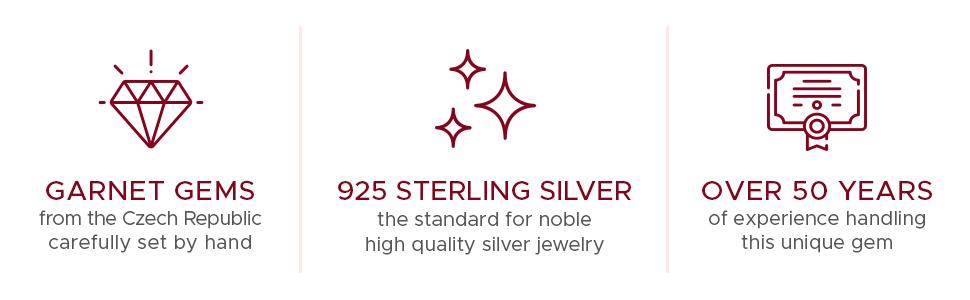 garnet stones silver 50 years experience