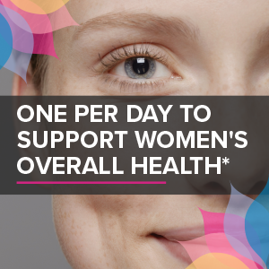 one per day to support women's overall health