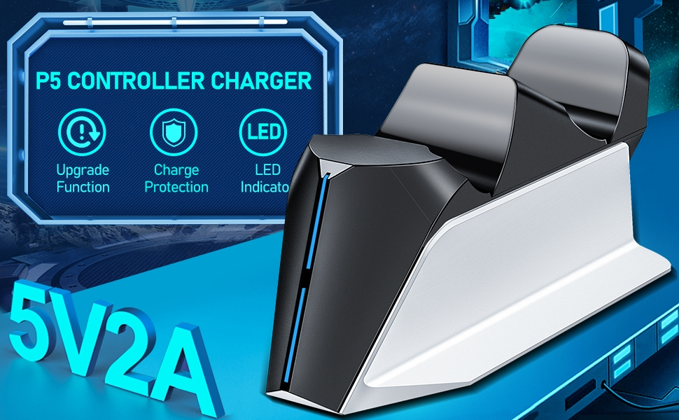 TwiHill PS5 Charging Station, PS5 Controller Charger Station para Playstation 5