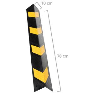 Kantenschutz Selbstklebend Gummi Eckschutz ecken auto parkplatz Wand gelb schwarz schutz fliesen