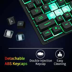 87 key gaming keyboard tenkeyless tkl wired gaming keyboard rainbow backlit led mini quiet keyboard